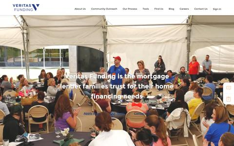Screenshot of Home Page vfund.com - Veritas Funding Mortgage Loans | Veritas Funding - captured June 5, 2019