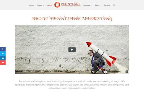 Screenshot of About Page plvisuals.com - Pennylane Marketing Video - About Us   Video Production NYC - captured July 21, 2017