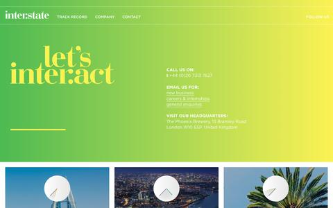Screenshot of Contact Page interstateteam.com - Contact | Interstate Creative Partners - captured Oct. 12, 2018