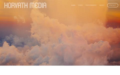 Screenshot of Home Page horvathmedia.com - Horvath Media - captured Sept. 20, 2015