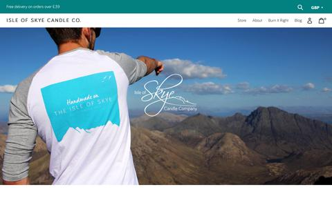 Screenshot of About Page skyecandles.co.uk - About Us – Isle of Skye Candle Company - captured Nov. 14, 2018