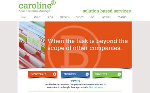 Screenshot of Home Page caroline-b.hk - Caroline B Personal Management - captured Sept. 27, 2018