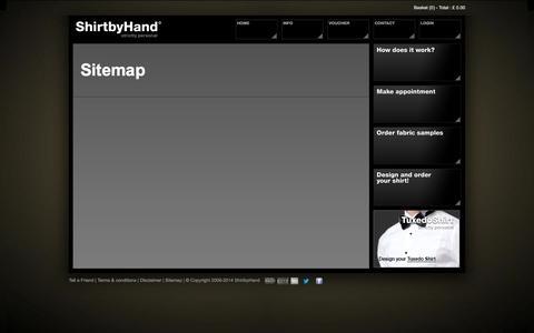 Screenshot of Site Map Page shirtbyhand.co.uk - Shirtbyhand - captured Oct. 27, 2014