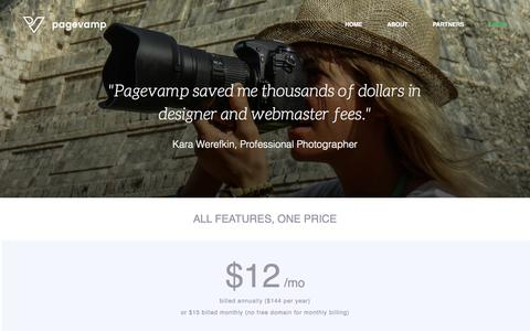 Screenshot of Pricing Page pagevamp.com - Pricing | Pagevamp - captured June 17, 2015