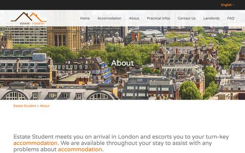 Screenshot of About Page estatestudent.com captured July 20, 2018