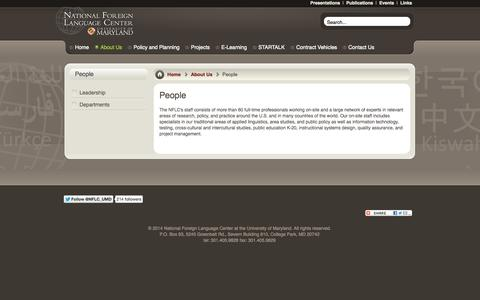 Screenshot of Team Page nflc.org - People | National Foreign Language Center - captured Nov. 5, 2014