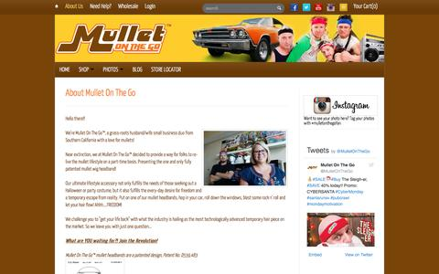 Screenshot of About Page mulletonthego.com - About Mullet On The Go | Mullet On The Go - captured Dec. 6, 2016