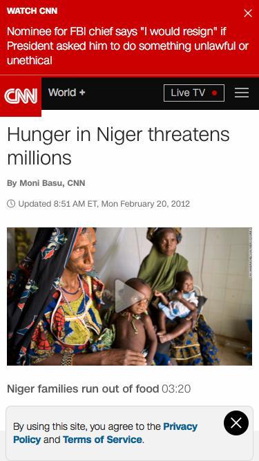 Hunger in Niger threatens millions - CNN.com