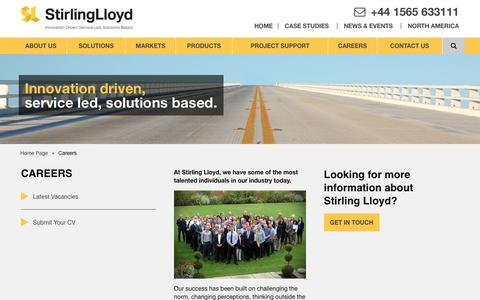 Screenshot of Jobs Page stirlinglloyd.com - Recruitment - Careers at Stirling Lloyd - captured Dec. 14, 2016