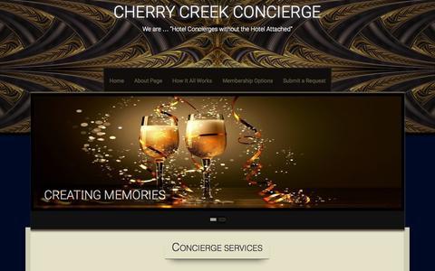 Screenshot of Home Page cherrycreekconcierge.com - Concierge Services - captured July 20, 2015