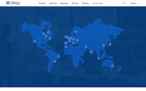 Screenshot of Locations Page liferay.com - Locations | Liferay - captured Feb. 1, 2019