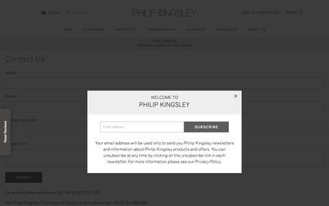 Screenshot of Contact Page philipkingsley.co.uk - Contact Us - captured Nov. 4, 2018
