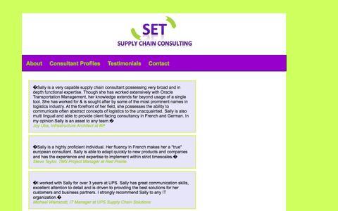 Screenshot of Testimonials Page set-scc.com - SET-SCC Testimonials - captured Oct. 4, 2014