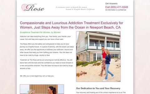 Screenshot of Landing Page crchealth.com - The Rose - captured Oct. 27, 2014