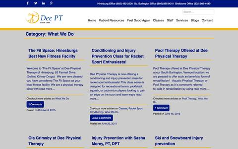 Screenshot of Services Page deept.com - What We Do Archives - DeePT - captured Feb. 8, 2016