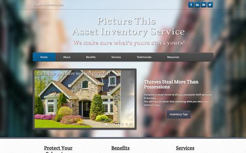 Screenshot of Home Page picturethisinventory.com - Picture This Home Inventory Service - Home - captured Oct. 2, 2014
