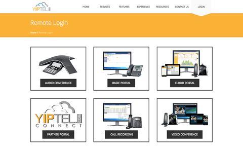 Screenshot of Login Page yiptel.com - YipTel Web Portal Login - captured Sept. 30, 2014