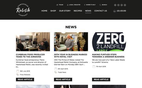 Screenshot of Press Page hawksheadrelish.com - News | Hawkshead Relish - captured July 18, 2019