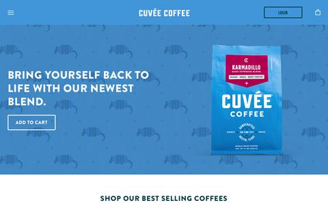 Screenshot of Home Page cuveecoffee.com - Cuvée Coffee: Always Something Brewing. Austin, TX - captured Nov. 5, 2018