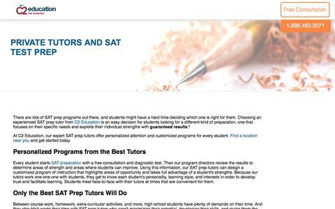 Screenshot of c2educate.com - Private Tutors and SAT Test Prep - captured July 11, 2017