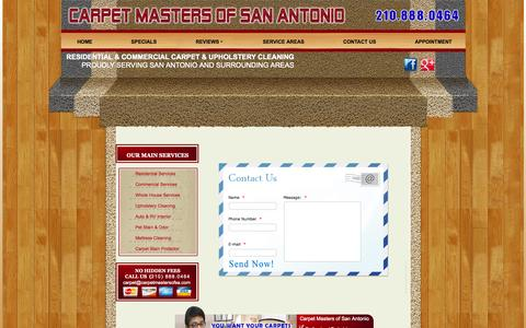 Screenshot of Contact Page carpet-cleaning-sanantonio-tx.com - Carpet Cleaning | CONTACT US - captured Oct. 2, 2014
