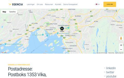 Screenshot of Support Page egencia.com - Kontakt oss - Egencia Norge - captured Oct. 19, 2018