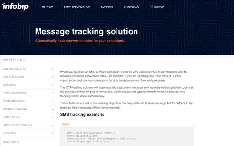 Message tracking solution