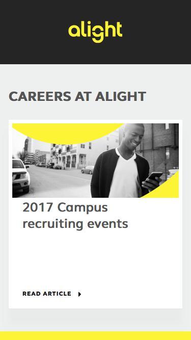 Screenshot of Jobs Page  alight.com - Careers at Alight