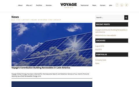 Screenshot of Press Page voyageglobalenergy.com - News – Voyage - captured Dec. 19, 2016