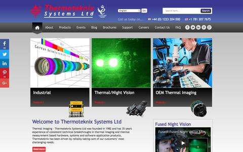 Screenshot of Home Page thermoteknix.com - Thermal Imaging - Thermoteknix Systems Ltd - captured Oct. 25, 2017
