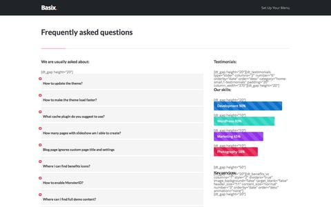 Screenshot of FAQ Page ozitect.com - Frequently asked questions – OziTect - captured Oct. 7, 2014