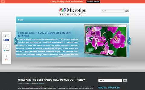Screenshot of Blog microtipsusa.com - Microtips Technology - A Leading Global Manufacturers and Suppliers of LCD Modules - captured Oct. 27, 2014