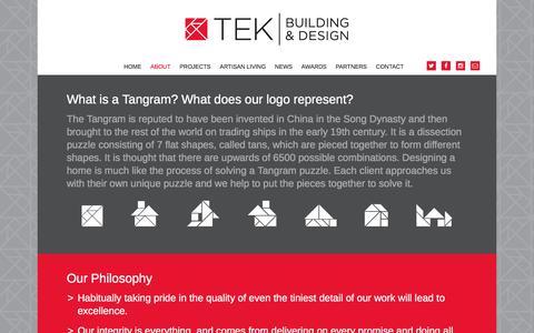 Screenshot of About Page tekbd.com.au - About – TEK Building & Design - captured Feb. 14, 2016