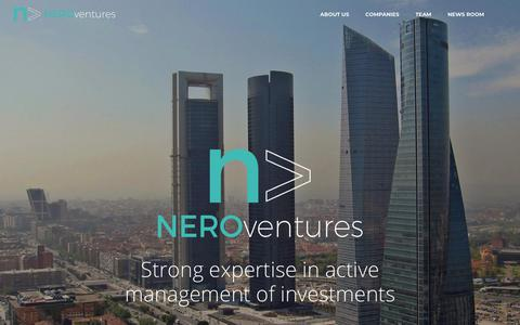 Screenshot of Home Page neroventures.com - Nero Ventures | People come first - captured Nov. 7, 2018