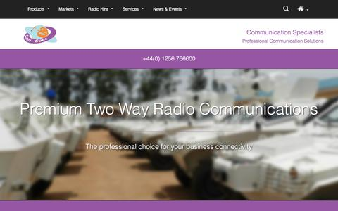 Screenshot of Products Page comm-spec.com - Two Way Radio Products | The Future of Communications - captured Nov. 8, 2016