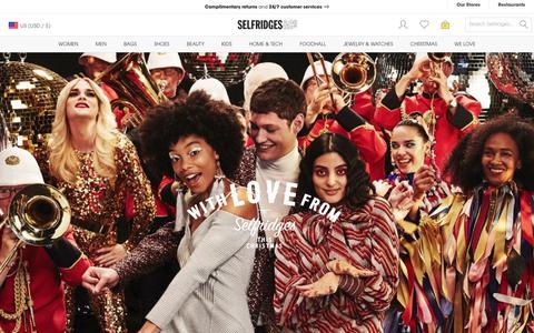 Screenshot of selfridges.com - Designer Fashion, Accessories & More - Shop Online at Selfridges - captured Oct. 24, 2017