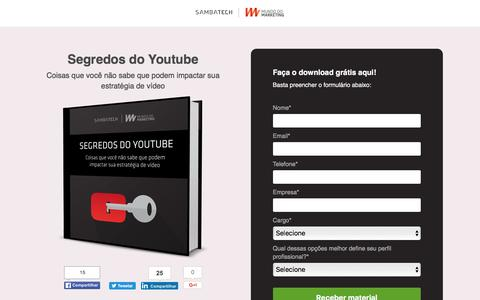 Screenshot of Landing Page sambatech.com - Segredos do Youtube - captured Aug. 19, 2016
