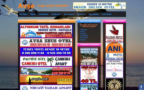 Screenshot of Home Page avsa.com - Avsa.com - Avşa Adası 2016  - 2017 - Otel - Motel - Pansiyon - Apart - captured Aug. 31, 2016