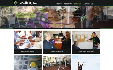 Screenshot of Services Page wellfitcorporate.com - wellfit | Services - captured Oct. 20, 2017