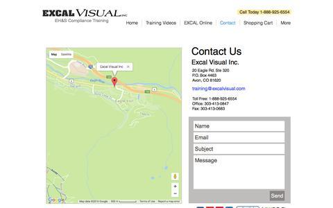 Screenshot of Contact Page excalvisual.com - EV Contacts - captured Nov. 11, 2016