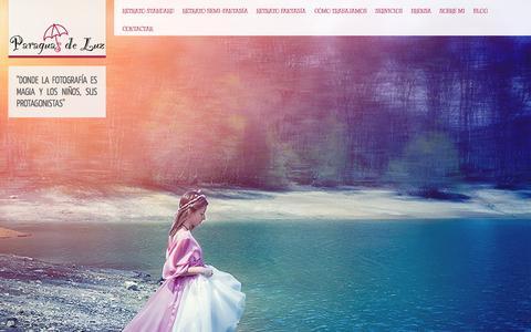 Screenshot of Home Page paraguasdeluz.com captured Sept. 27, 2014