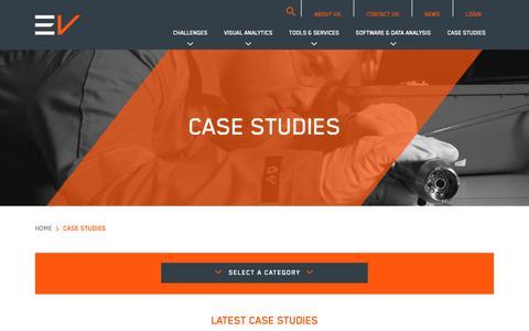 Screenshot of Case Studies Page evcam.com - Case Studies | EV - captured Dec. 13, 2018