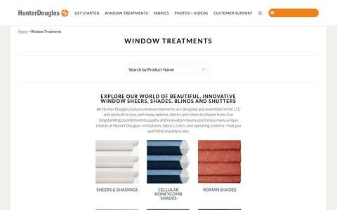 Screenshot of Products Page hunterdouglas.com - Window Treatments | Hunter Douglas - captured Nov. 16, 2017