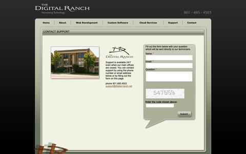 Screenshot of Support Page digital-ranch.com - The Digital Ranch - Contact Support - captured Oct. 20, 2018