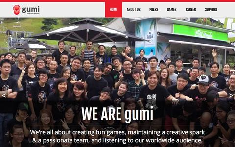 Screenshot of Home Page gumi.sg - GUMI SG | One Step Beyond - captured Oct. 1, 2015