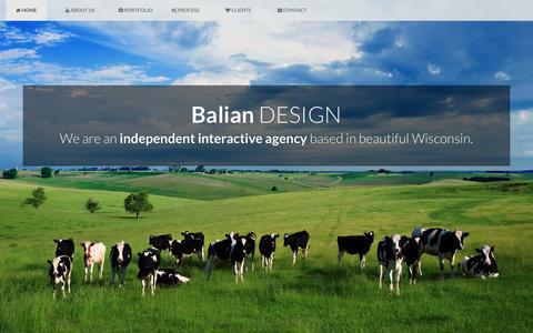 Screenshot of Home Page baliandesign.com - Balian Design - A Wisconsin based Web Development Company - captured Dec. 29, 2015