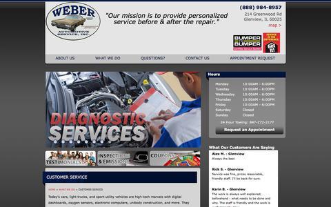Screenshot of Support Page weberauto.com captured Nov. 15, 2017