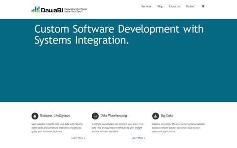 Screenshot of Home Page dawabi.com - Data Warehouse & Business Intelligence Consultants | DawaBI - captured Aug. 1, 2016