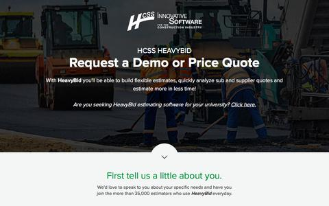 HCSS Estimating Software   Request a Demo or Price Quote