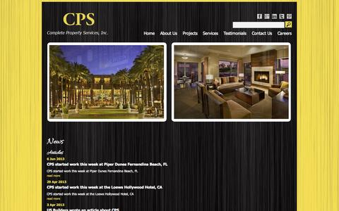 Screenshot of Press Page completeproperty.com - News | CPS - captured Oct. 3, 2014